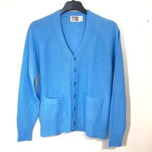 Vtg Montgomery Ward Button Front Cardigan Sweater